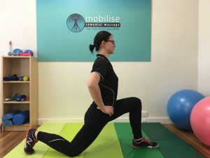 Lower Back Hip Flexor Stretch 1