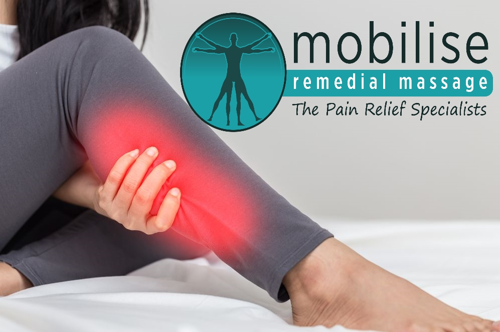How does Remedial Massage treat a calf tear?